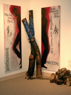 """Hackensack Rebellion."" Installation, Puffin Cultural Forum, 2000."