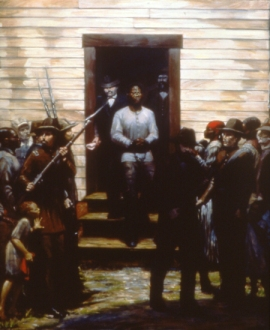 """The Last Moments of Nat Turner"" 48x42"" Oil on Canvas 1997"