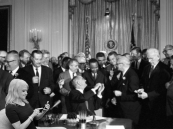 LBJ and Kellyanne sign civil rights act copy